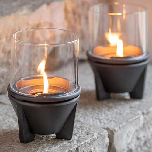 Indoor CeraLava mit Windglas